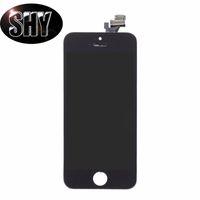 Pour iPhone 5 / 5S / 5C Écran LCD Pas de points morts Touch Digitizer Écran avec cadre AAAA Qualité avec pièces petites Pièces de réparation Repalcement