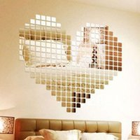 2x2cm Bling Bling Acrylic 3d Wall Sticker Mosaic Mirror Effect Sofa Room Home Decor Self Adhesive Mirror Tiles Stickers