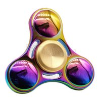 Rainbow Fidget Spinner Colorful EDC Gyro Toys Hand Spinner Fidget Aluminium Fidget HandSpinner Professional Factory Ventes directes