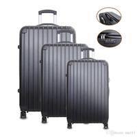 ¡Acción de los EEUU! La maleta del bolso del ABS del centrifugador de la carretilla de Trave del equipaje de las PC 3 lleva 20