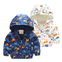 90- 120cm Animal Baby Girls Jacket Active Hooded Outerwear Co...