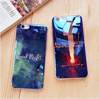 Luxury Blu- ray Soft TPU Case For iPhone 5S 6 6S 7 Plus Blue ...