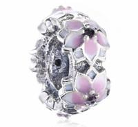 2017 Spring Collection en argent sterling fleur rose Spacer Charme pour Bracelet Pandora européenne Bijoux Designer