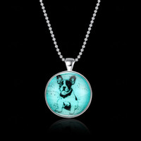 The new cute puppy pendant necklace night luminous fashion a...