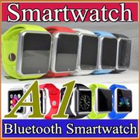 50X A1 Montre Smart 2016 Bluetooth DZ09 U8 GT08 Montre Smartwatch Soutien SIM TF Montres-bracelets Smart Card Avec bracelet en silicone Smartphone F-BS