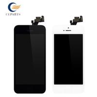 Grade A +++ originale pour l'affichage d'affichage à cristaux liquides de l'iPhone 5 Touch + écran complet + bouton à la maison avec le remplacement complet d'assemblage de cadre avec l'expédition de DHLfree