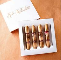 Maquillaje limitado del oro del oro de KOKO KOLLECTION 4pcs / set El lustre mate líquido del labio del lápiz labial de KYLIE por los cosméticos de kylie fijó 1pcs impermeable