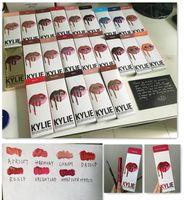 Последние 35 цветов KYLIE JENNER LIP KIT regular 28 x valentine head over heel Kylie Lipliner Жидкая матовая губная помада Красный блеск для губ DHL