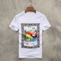 Designer Clothes T Shirt Men Comic Summer' s New Round N...