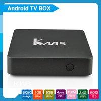 KM5 S905X Android TV Box 64bit Quad core CPU Penta- core GPU ...