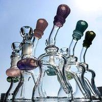 2017 L'eau de verre d'arrivée nouvelle bongs tuyaux avec 14.5mm Joint femelle 5 couleurs de fumée de cigarette en verre avec Inner Perc NN01