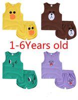 Boys Girls Summer Cotton Sleeveless Clothing Sets Children K...