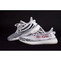 SPLY- 350 BZ0256 Kanye West 350 Boost V2 Black White With Whi...