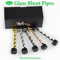 Livraison gratuite Verre Twisty Blunt 7Pipe tuyaux de fumer Dry Vaporisateur Herb Great Pipes pour fumer Vapor Pen Vapor Grinder 5 Couleurs
