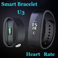 Oxymètre Oxygène de sang Bracelet intelligent U3 Smartband cardiofréquencemètre Pédomètre Bracelet Bluetooth Inteligente Pulse Tracker Pour iOS Android