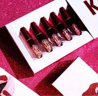 2017 plus récent Kylie collection de Valentines Lipgloss Set 6 pcs Lipkit Kylie Jenner Valentine Lipstick cadeau 6pcs un ensemble