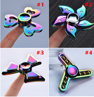New Arrival Fidget Spinner Metal HandSpinner Rainbow Hand Spinner EDC Toy pour décompression Anxiété Ceramic Ball Bearing Desk Toys
