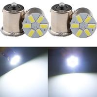 White LED Bulbs 1156 ba15s 6SMD 5730 Turn Signal Rear Tail L...