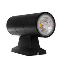 COB 2 * 10Вт 20W Уличные светодиодные Настенные светильники IP65 Водонепроницаемый Настенный светильник Up Down алюминий Современный настенный светильник Светильник Главная украшения сада лампы