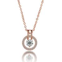 Fashion diamond pendant necklace 925 Silver and 18K Gold Pla...