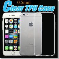 Pour Iphone 6 7 7 Plus Crystal Gel Transparent Transparent TPU Case Ultra Mince 0.5mm Soft Gel Case Pour Samsung s7 bord