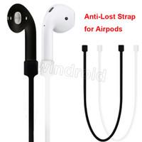 Bracelet pour écouteur pour Apple Airpods Bracelet perpétuel Luminous Loop String Cordes pour pot d'air Cordon en silicone 12 couleurs avec sac pe