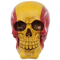 Wholesale- Free Shipping 1Piece Spanish Flag Skull Art Patri...