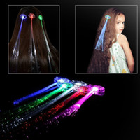 Light Up Hair Clips Extensions LED Costume Flashing Women Gi...