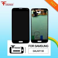 Ecran LCD d'origine + numériseur à écran tactile pour Samsung Galaxy S5 G900 G900 G900 G900 G900 G900 G4 G900A G9006 V A +++ Blanc Bleu