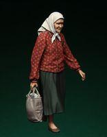 Оптово-1 35 масштаб модели смолы цифры комплектов Современные русские беженцы lady3