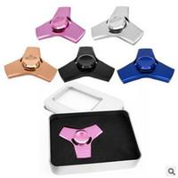 5 cores New Fidget Spinner HandSpinner dedo EDC brinquedo para ansiedade de descompressão 100% liga de alumínio brinquedos CCA5688 300pcs