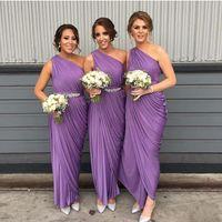Purple 2017 Cheap Bridesmaid Dresses Off Shoulder Delicate S...