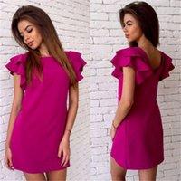 New Arrival Summer Mini Dresses Panelled Fashion Crew Neck C...