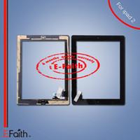 Pour iPad 2 nouveau Touch Screen Digitizer remplaçable bouton d'accueil adhésif gratuit DHL expédition