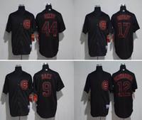 black chicago cubs 17 kris bryant jersey 9 javier baez 44 an...