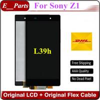 Pour Sony Xperia Z1 L39h LCD qualité d'origine AAA + C6902 C6903 C6906 C6943 Affichage LCD avec écran tactile sans cadre