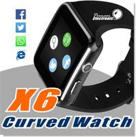 Curve Screen X6 Smartwatch Montre bracelet Smartphone avec carte SIM TF Slot avec appareil photo pour Samsung LG Sony Tout Android Téléphone mobile