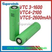 Batterie AAAA qualité 18650 US18650 Clone VTC4 VTC5 Batterie Li-ion 2100mah vtc 4 5 vct3 Batterie 3.7V 30A Alimentation en usine UPS Fedex gratuit