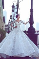 Luxury Lace Wedding Dresses 2017 Bridal Gowns Long Illusion ...