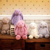 Conejito de peluche conejo juguetes regalos para niños de 30 cm de los niños juguetes de muñecas creativas muñeca de conejo suave oídos largos de decoración de Pascua almohada almohadillas KKA1132