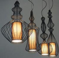 Горячая продажа Люстра Бар лампы Elite Spa лампа Северная Европа современный минималистский Творческий Аристократ Ткань Подвеска Свет LLFA