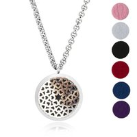 Aroma Jewelry 30mm Perfume Locket 316L Huile essentielle en acier inoxydable Aromatherapy Diffuser Locket Pendant (Send Chain Felt Pad) LOVE