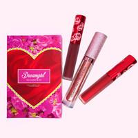 Nouveau rouge à lèvres maté de rouge à lèvres de maquillage de diamant DREAMGIRL / CHEAP THRILL / RED CHAUD avec 3 couleurs imperméables Livraison gratuite