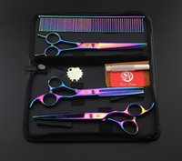 Purple Dragon Professional Pet Grooming Scissors Set 7 In. Ha...