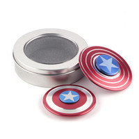 Fidget spinner capitaine amérique Creative Captain America Shield Spinner à la main Iron Man Fidget Alloy Puzzle Toys EDC Autism ADHD Finger Gyro