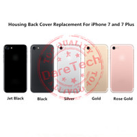 Replacement Cover For iPhone 7 iPhone 7 plus Housing Jet Bla...