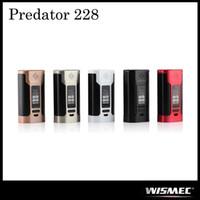 Authentique Wismec Predator 228 TC Mod Alimenté par double batterie 18650 remplaçable avec 228W Max Sortie 100% Original