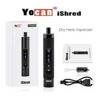 Yocan iShred Dry Herb Vaporisateur E Cigarette Kits Chambre pleine en céramique Built-in Herb Grinder 2600mAh VS Yocan Evolve Plus yocan bobines