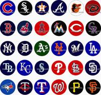 Free shipping 2016 NEW MLB Baseball 30pcs   lot glass snap b...