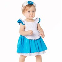 Girls Alice Dress with Headband 2017 Kids Cinderella Dresses...